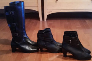 Evelyn's black boot collection for brand storytelling