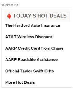 AARP website advertising 2015-12-03