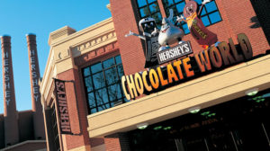 Front entrance to Hershey's Chocolate World brand experience