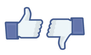 Facebook like thumbs up hand and thumbs down hand