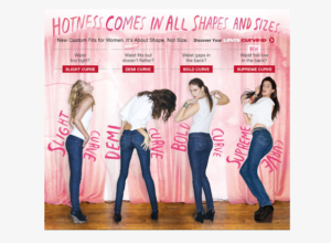 Levi's Hotness comes in all shapes and sizes ad that does harm to the brand because it rings false