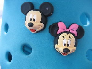 Mickey & Minnie Jibbitz in Blue Crocs