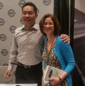 Jia Jiang, author of Rejection Proof, with me at the GrowCo conference