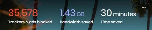 Brave time saving stats